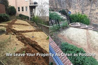 We leave your property as clean as possible - before and after photo