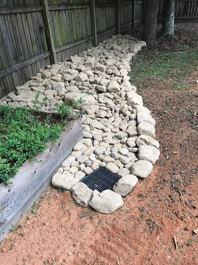 Suwanee Dry Creek Bed Drainage Solutions