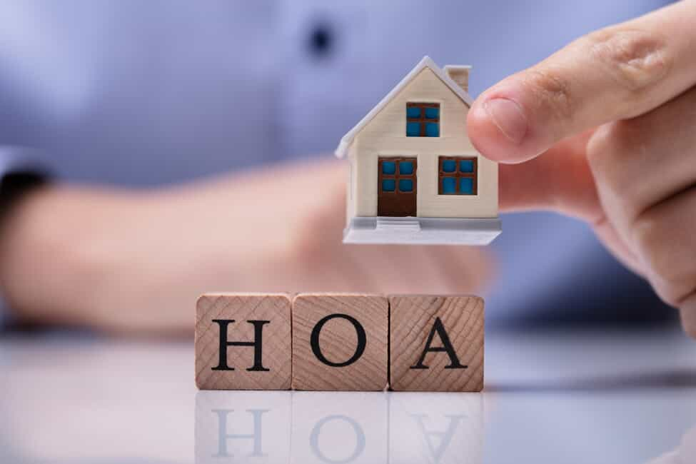 blocks that spell out HOA